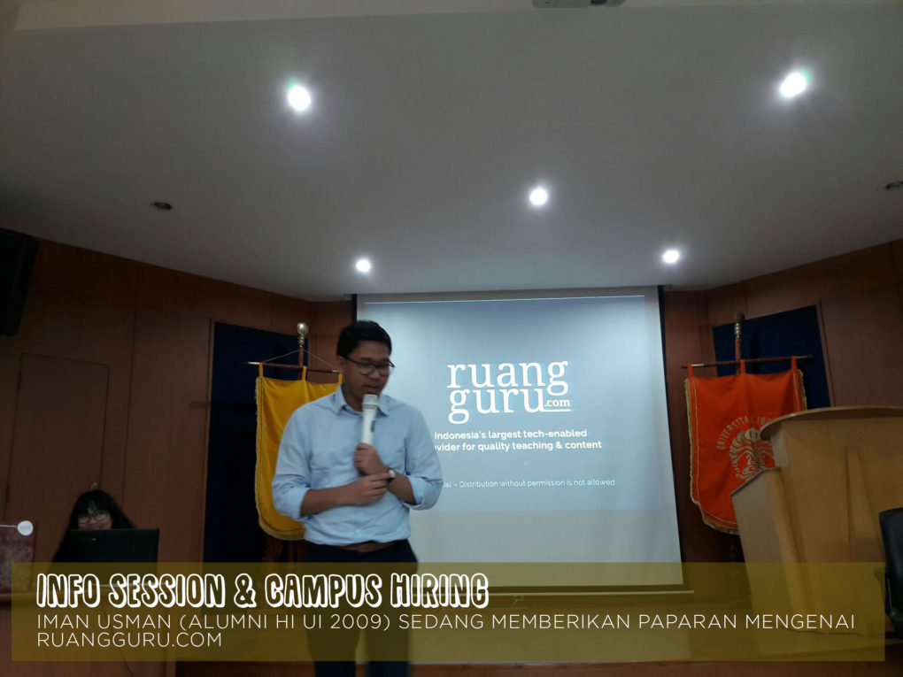 Info Session & Campus Hiring with Ruangguru.com